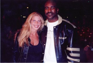 Jolie Glassman and Evander Holyfield  @SBB