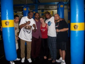 Thomas Hearns, Jolie Glassman and team @SBB