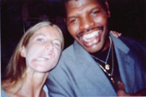 Jolie Glassman and Leon Spinks