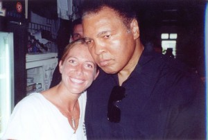 Jolie Glassman and Muhammad Ali @SBB