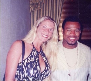 "Jolie Glassman and ""Sugar"" Shane Mosley"