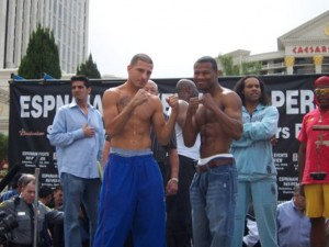 "David Estrada vs. ""Sugar"" Shane Mosley who trained"