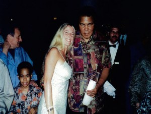 Jolie Glassman and Muhammad Ali