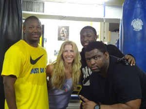LeRon McCoy, Jolie Glassman, and LeSean McCoy  @SBB